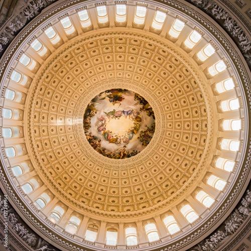 Photo Washington DC US Capitol Rotunda Apotheosis Detail Architecture