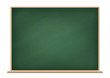 Vector school blank green chalkboard isolated background