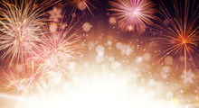 Abstract Firework Background W...