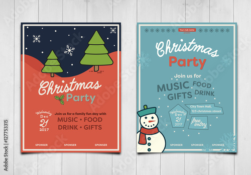 Christmas or Winter Event Poster Layout. Buy this stock ...