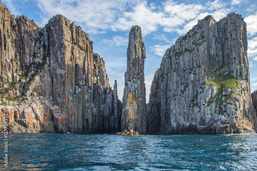 Canvas Print Cliffs of Tasmania