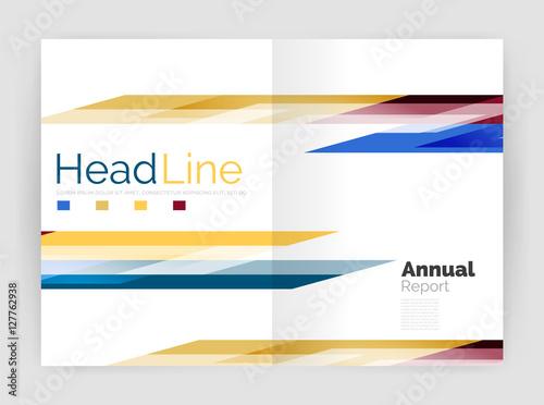 geometric business annual report templates modern brochure flyer