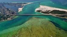 Aerial Image Of The Destin Harbor In Destin, Florida