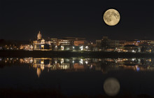 Fredericton In The Moonlight N...