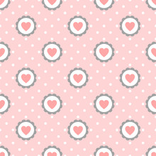 Heart Seamless Pattern With Po...