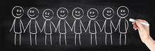 Gruppe Personen - Tafel - Zusammenhalt
