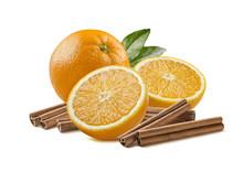 Whole Orange And Cinnamon Group 3 Isolated On White
