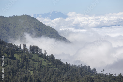 General landscape around Mt Bromo, Indonesia Wallpaper Mural