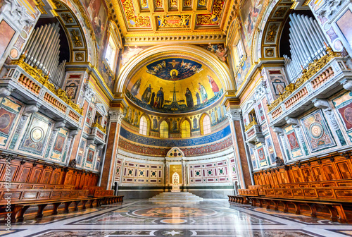 Rome, Italy - Lateran Basilica, Papal Cathedral Canvas Print