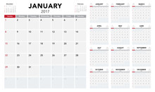 Calendar 2017 Template Design....