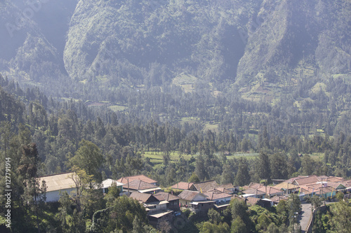 general landscape surround Mt Bromo, Indonesia Wallpaper Mural