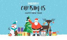 Christmas Greeting Card Flat Design 2