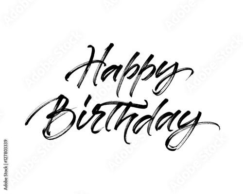 Fotografía  Happy Birthday inscription