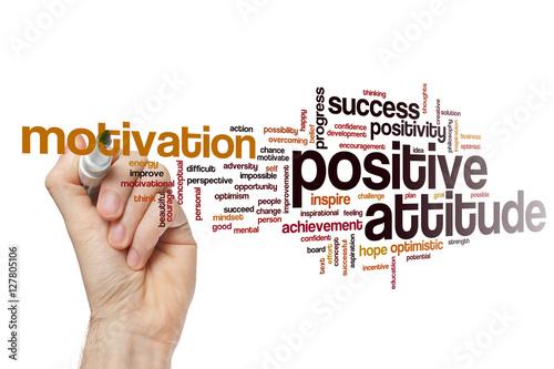 Fotografie, Obraz  Positive attitude word cloud