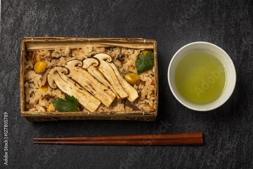 Fotografie, Obraz  日本産最高級松茸ごはん  Domestic matsutake mushroom
