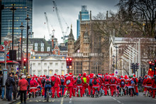 Santas Riding For Charity In L...