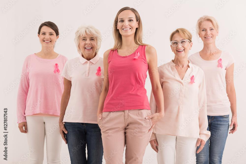 Fototapeta Women against breast cancer