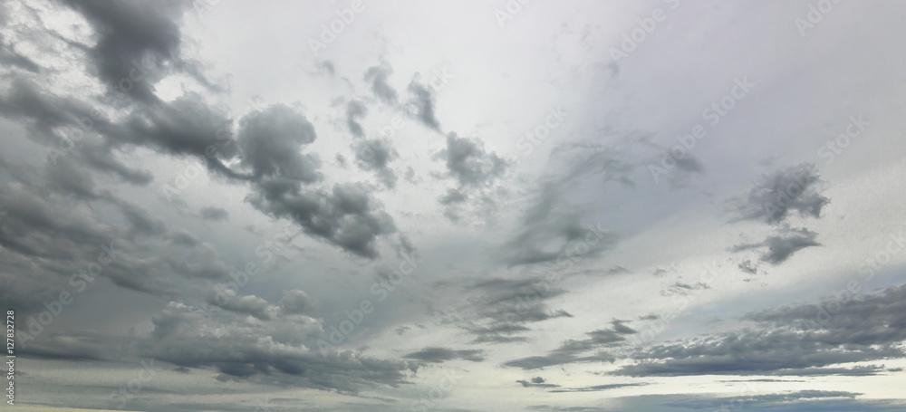 Fototapety, obrazy: gray sky after the storm