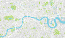 Urban City Map Of London, Engl...