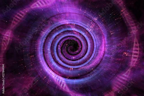 Poster Spirale Universe Black Hole 3D Illustration