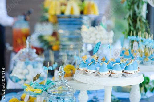 sweet cakes party decoration