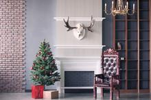 Christmas Scenery. Luxury Inte...