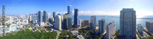 Canvas Prints Kuala Lumpur Aerial image of Brickell Miami FL highrise buildings