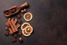 Mulled Wine Ingredients Spices. Anise, Cinnamon And Cardamom