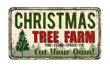 Christmas Tree Farm Vintage Me...