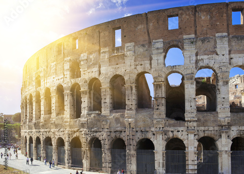 Italy. Rome. The ancient Collosseo Canvas Print