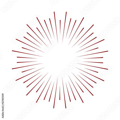 Fotografie, Obraz  Rays radiating from a center
