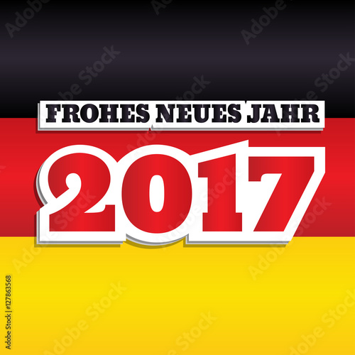 Vector greeting card with text text happy new year 2017 in german vector greeting card with text text happy new year 2017 in german abstract m4hsunfo