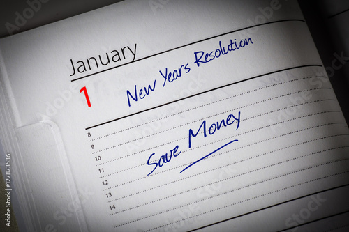 Fotografie, Obraz  Save Money Diary Resolution