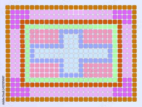 Fotografie, Obraz  Cruz azul em centro de quadro lilás