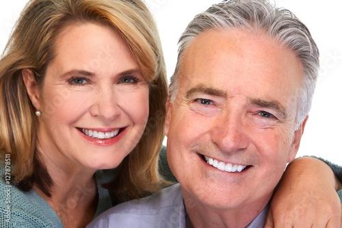 Senior couple smiling. #127878511