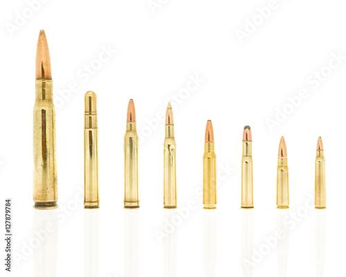 Photo  rilfe ammo isolated