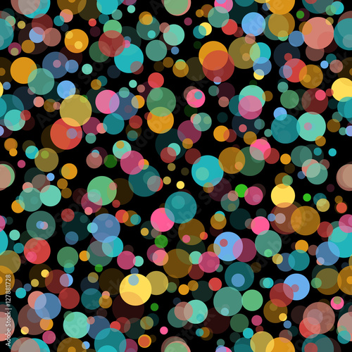 Bright circle particles seamless pattern #127881728