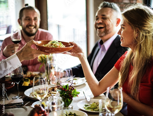 Fotografie, Tablou  Restaurant Chilling Out Classy Lifestyle Reserved Concept