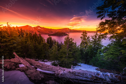 Fotografia, Obraz Crater Lake National Park Oregon