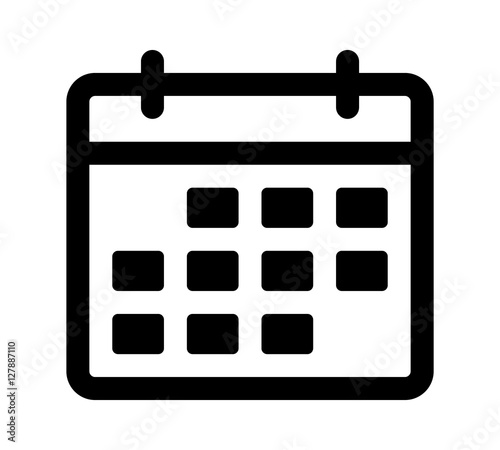 Papel de parede Calendar or appointment schedule line art icon for apps and websites