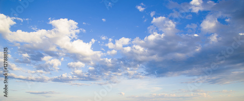 Fotografie, Obraz  Beautiful heavenly landscape. Clouds float across the sky.