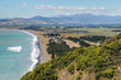 aerial view of Rarangi beach on South Island in New Zealand