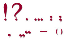 Red Punctuation Marks. Vector ...