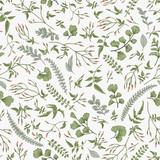Kwiatowy wzór. Liście i Zioła - 127893705