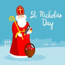 Saint Nicholas, Vector Greetin...