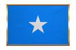 Flag of Somalia , golden frame, fabric texture