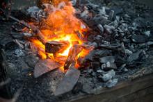 Blacksmith Heats A Blank For T...