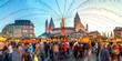 canvas print picture - Weihnachtsmarkt Mainz