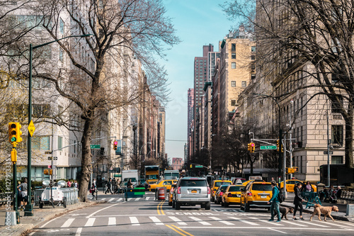 Stampa su Tela Streets and Buildings of Upper East Site of Manhattan, New York