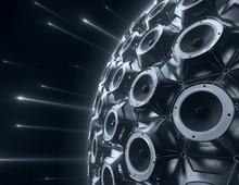 Black Sphere Of Audio Speakers...